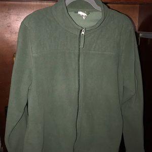Green fleece zip up